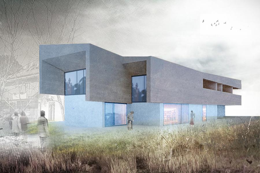 Studio preliminare per una casa bifamiliare - Preliminary study for a semi-detached house